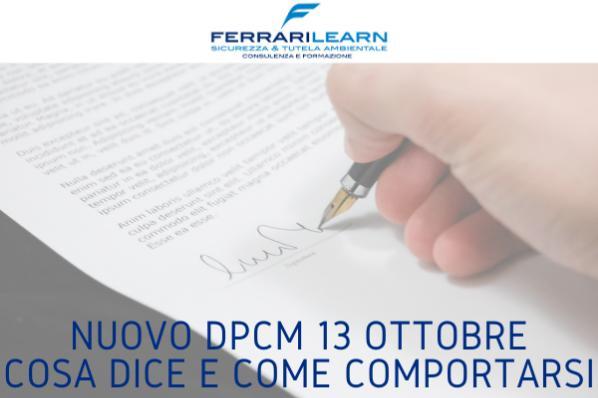 DPCM 13 ottobre: cosa dice e come comportarsi
