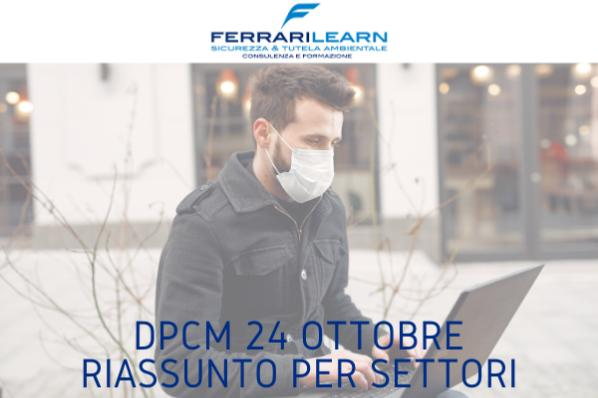 Dpcm 24 ottobre: corsi di formazione e attività, cosa cambia?