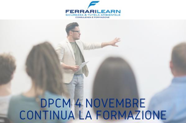 Formazione: cosa dice il Dpcm 4 novembre