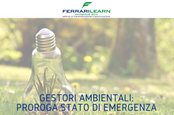 Albo Nazionale Gestori Ambientali: proroga stato di emergenza
